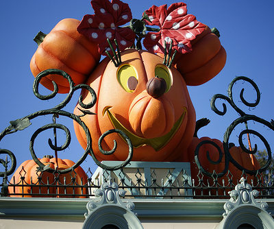 Halloween makeover at Disneyland…