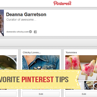 Favorite Pinterest tips